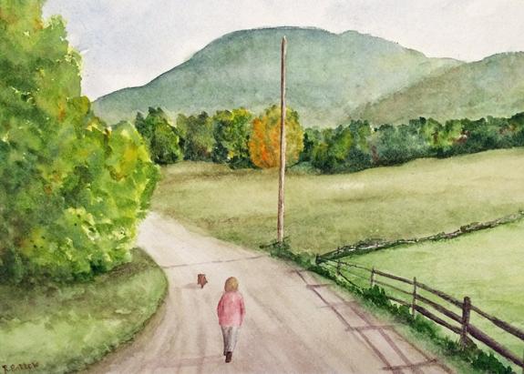 Take Me Home, Watercolor 12x18