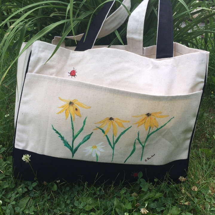 Ladybugs and Black Eyes Tote