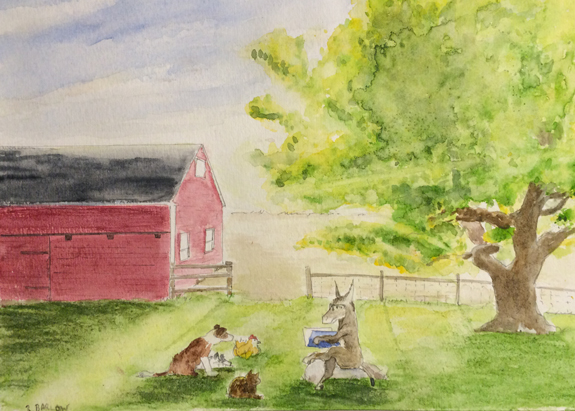 Magic in Bedlam, Watercolor 5 x7