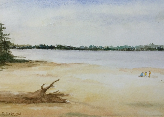 Puget Sound, Watercolor 5 x 7