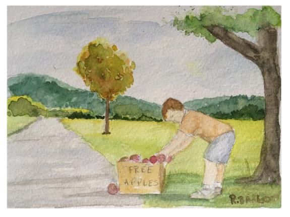 The New Zucchini 5 x7 Watercolor