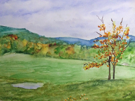 My Giverny Watercolor, 12 x 16
