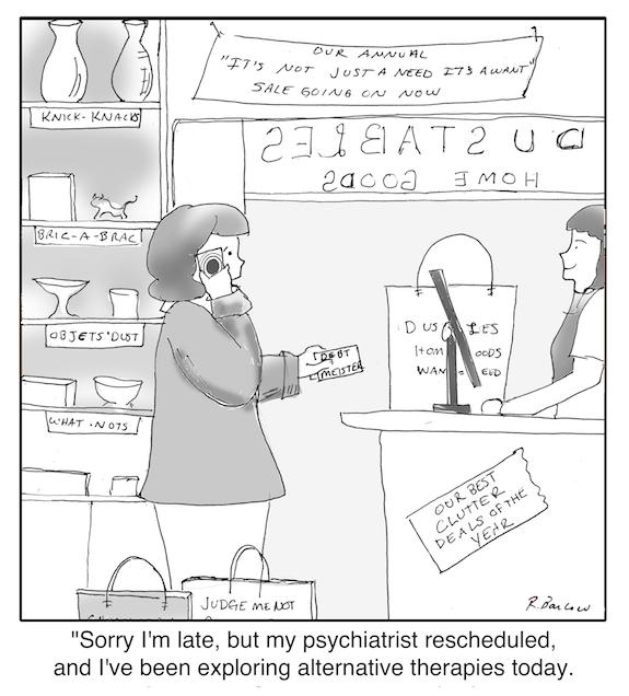 Cartoon - Retail therapy web