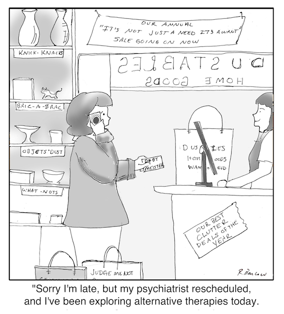 Cartoon - Retail therapy web